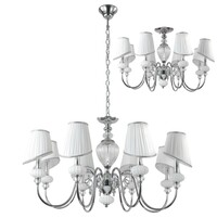 Люстра Crystal Lux ALMA ALMA WHITE SP-PL8