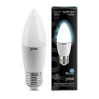 Лампа Gauss LED Candle 6.5W E27 100-240V 4100К 103102207