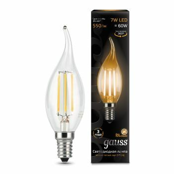 Лампа Gauss LED Filament Candle tailed E14 7W 2700K 1 10 50 104801107