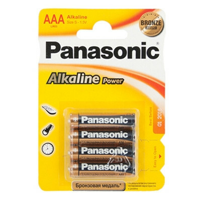 Элемент питания PANASONIC Alkaline Power LR03 286 BL4 (цена за 1шт.)