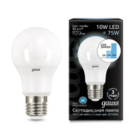 Лампа Gauss LED A60 10W E27 4100K step dimmable 102502210-S