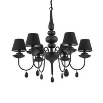 Люстра IDEAL LUX Blanche BLANCHE SP6 NERO