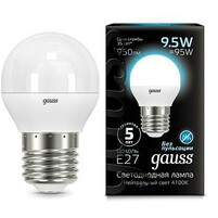 Лампа Gauss LED Globe E27 9.5W 4100K 1 10 50 105102210