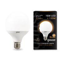 Лампа Gauss LED G95 E27 16W 3000K 1 32 105102116