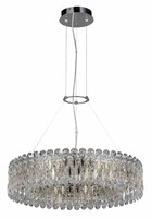 Люстра CRYSTAL LUX LIRICA SP10 D610 CHROME/GOLD-TRANSPARENT