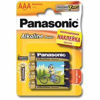 Элемент питания PANASONIC Alkaline Power LR03 286 BL4+наклейка Cirque du Soteil